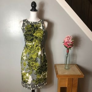 Anthropologie Floral Print Sheath Dress